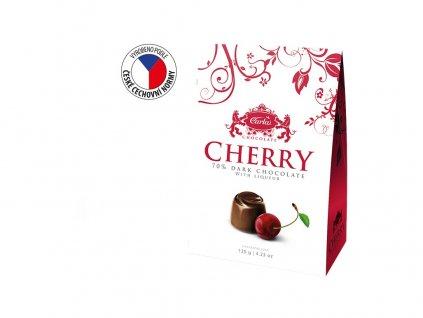 Cherry Višně v hořké čokoládě stříška 120g Carla