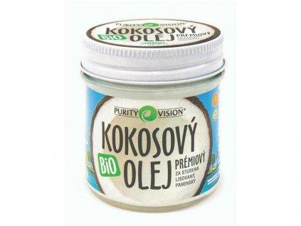 Bio Kokosový olej prémiový za studená lisovaný 120ml Purity Vision