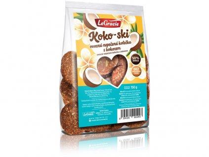 Ovocné nepečené sušenky Koko-ski 150g LeGracie