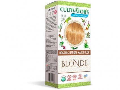Bio přírodní barva na vlasy 100% 3 - Blond 100g Cultivator