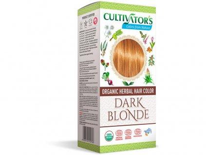 Bio přírodní barva na vlasy 100% 4 - Tmavá Blond 100g Cultivator