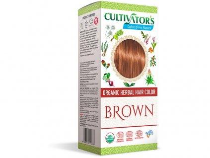 Bio přírodní barva na vlasy 100% 7 - Hnědá 100g Cultivator