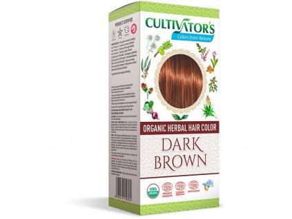 Bio přírodní barva na vlasy 100% 8 - Tmavě hnědá 100g Cultivator