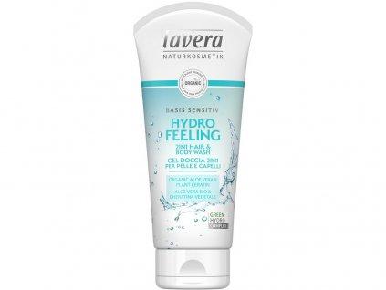Basis Sprchový gel na tělo i vlasy 200ml - Hydratující osvěžení 2v1 Lavera
