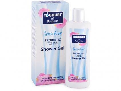 Probiotický sprchový gel tonizující s růžovým olejem 230ml Biofresh