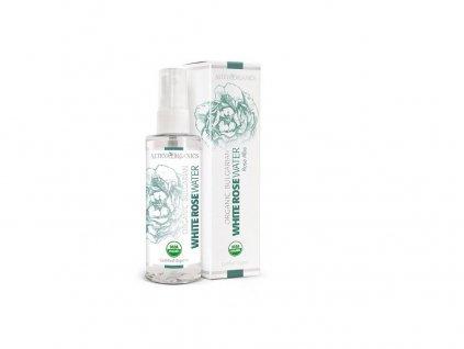 Bio Růžová voda z bílé růže sprej 100ml Alteya Organics