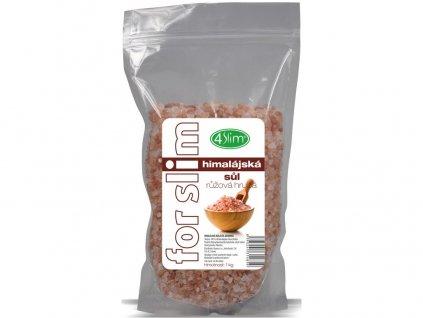 Himalájská sůl růžová hrubá 1kg 4Slim
