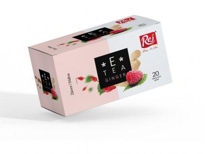 Čaj E-tea Ginger (zázvor, malina) 20x2,2g Rej