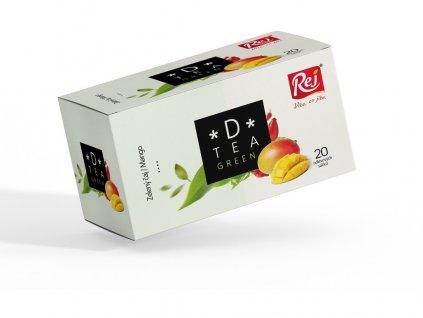Čaj D-tea Green (zelený čaj, mango) 20x1,75g Rej