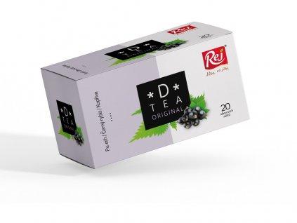 Čaj D-tea Original (Pu-Erh, černý rybíz, kopřiva) 20x1,5g Rej