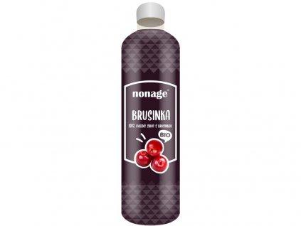 Bio brusinkový ovocný sirup 330ml Nonage