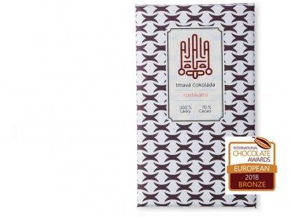 Bio čokoláda 70% rustikální výběrové boby 45g Ajala