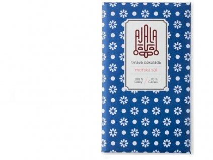 Bio čokoláda 70% s mořskou solí, výběrové boby 45g Ajala