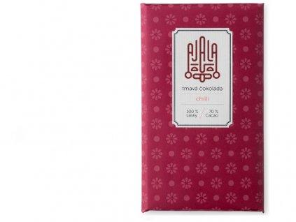 Bio čokoláda 70% s chilli (0,5%) výběrové boby 45g Ajala