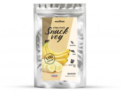 Banán sušený ve vakuu Snack veg mini 10g Obezin