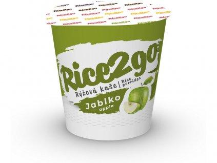 Instantní rýžová kaše jablko Rice2go 40g Obezin