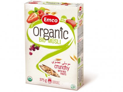 Bio Organic musli red fruit 375g Emco