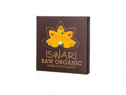Bio čokoláda - Cripsy Orange raw 75g Iswari