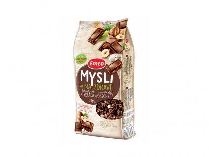 Mysli - Sypané křupavé čokoláda a ořechy 750g Emco