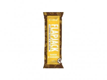 Tyčinka Flapjack Banán karamel 60g Cerea