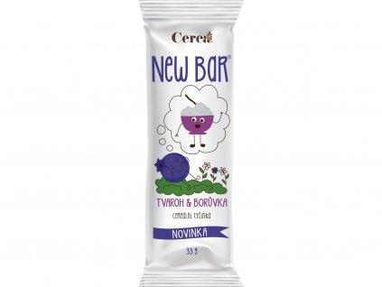 Cereální tyčinka New Bar tvaroh borůvka 28g Cerea