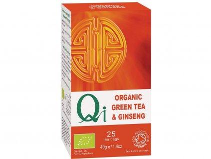 Bio zelený čaj Qi se ženšenem 25x1,8g