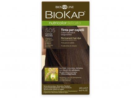 Barva na vlasy - 5.05 Hnědá - světlý kaštan 140ml Biosline