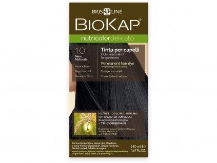 Barva na vlasy - 1.00 Černá přírodní 140ml Biosline
