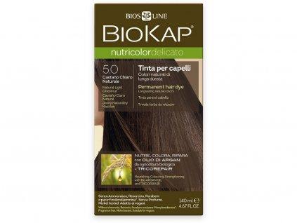 Barva na vlasy - 5.0 Kaštanová přírodní světlá 140ml Biosline