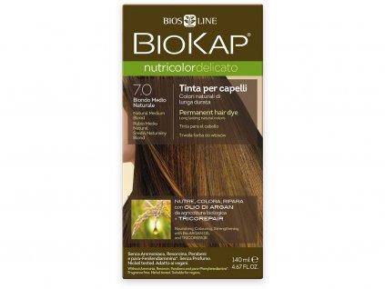 Barva na vlasy - 7.0 Blond přírodní střední 140ml Biosline