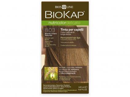 Barva na vlasy - 8.03 Blond přírodní světlá 140ml Biosline
