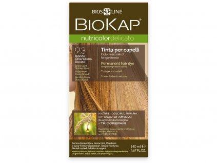Barva na vlasy - 9.30 Blond zlatá - Extra světlá 140ml Biosline