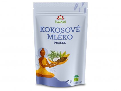 Bio Kokosové mléko prášek 100g Iswari