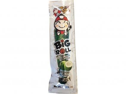 Big Roll – snack  gril. trubička z mořské řasy s kokosovou příchutí 3g Taokaenoi