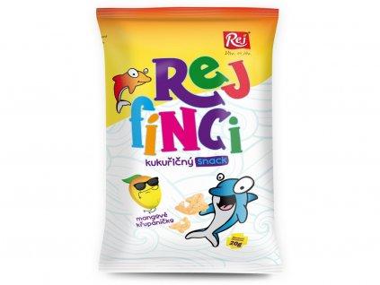 Rejfínci kukuřičný snack mangový 20g Rej