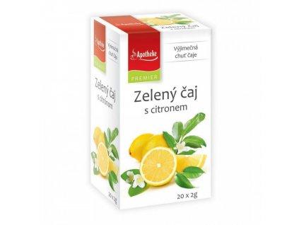 Apotheke PREMIER Zelený čaj s citronem 20x2g