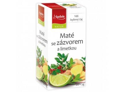 Maté se Zázvorem a Limetkou čaj 20x2g Apotheke Natur