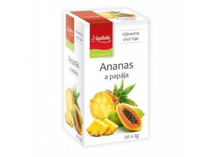 Apotheke PREMIER Ananas a papája čaj 20x2g