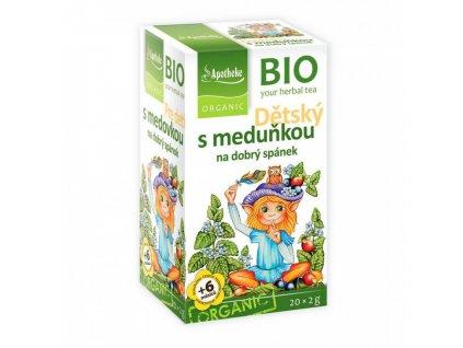 Apotheke BIO Dětský čaj s meduňkou na dobrý spánek 20x2g