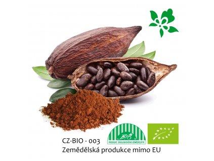 Bio kakaový prášek z nepražených kakaových bobů Puritas® 200g Doy-pack ZIP