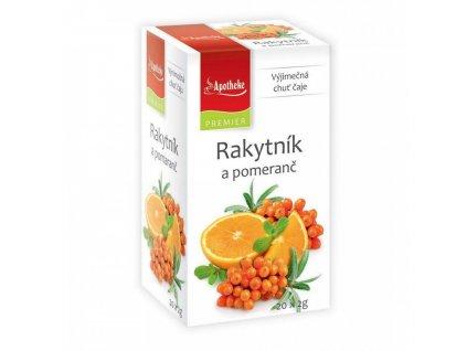 Apotheke PREMIER Rakytník a pomeranč čaj 20x2g