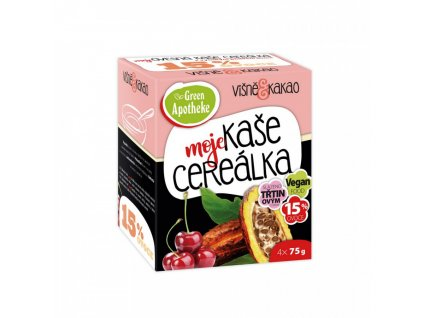 Green Apotheke CEREÁLKA ovesná kaše Višně a kakao 4x75g