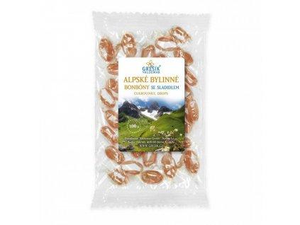 Bonbony Alpské bez cukru se sladidly 100g Grešík