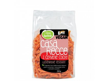 Green Apotheke Casarecce z Červené čočky 100% 250g