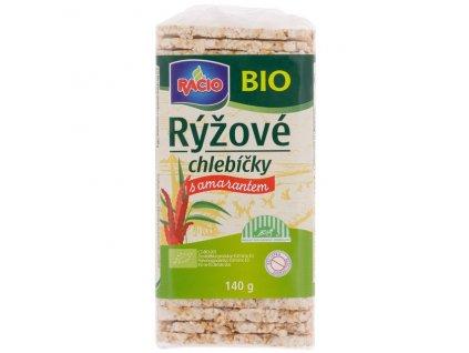 Chlebíčky rýžové s amarantem 140 g BIO RACIO