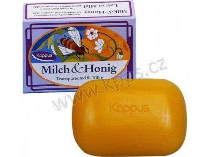 Toaletní mýdlo KAPPUS 100g Med a mléčný extrakt