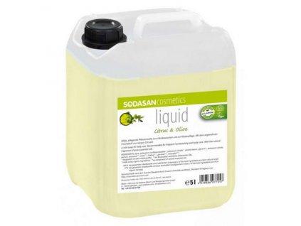 Mýdlo tekuté Citron - Oliva 5 l SODASAN