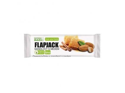 Flapjack mandlový s medem BIO 40 g Natural Bars