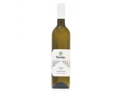 Víno bílé Saphira ročník 2018 - pozdní sběr (polosladké) 750 ml BIO VERITAS