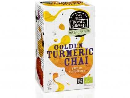 Bio bylinný čaj Golden Turmeric Chai 27g Royal Green